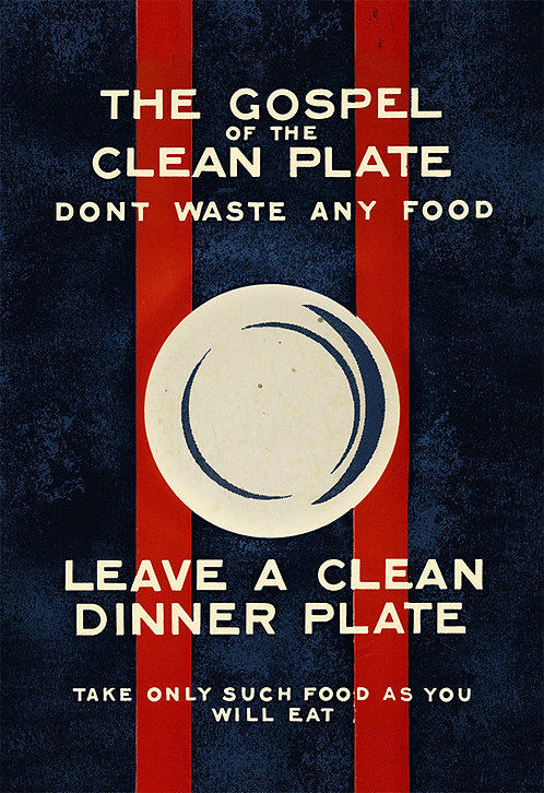 Gospel of the clean plate