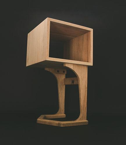 """Mid Century """"EMU"""" side table / nightstand (single)"""