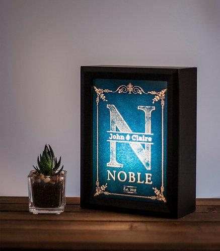 Personalized housewarming lightbox / Gift for newlyweds