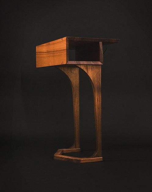 "Solid Teak ""EMU"" side table for Joybird sectionals"