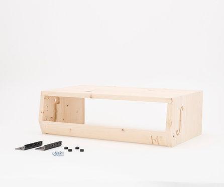 Partial DIY / ƒ-hole Desktop Audio Rack