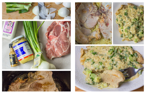 Mustard Braised Pork Chops (Digital Photography Final Project 2 of 3)