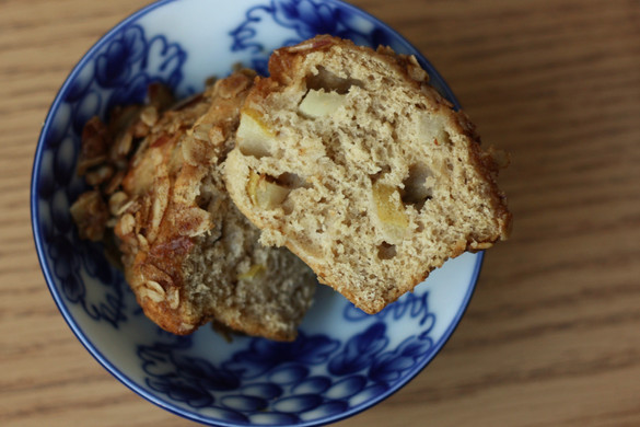 Yeasted Pear Streusel Muffins