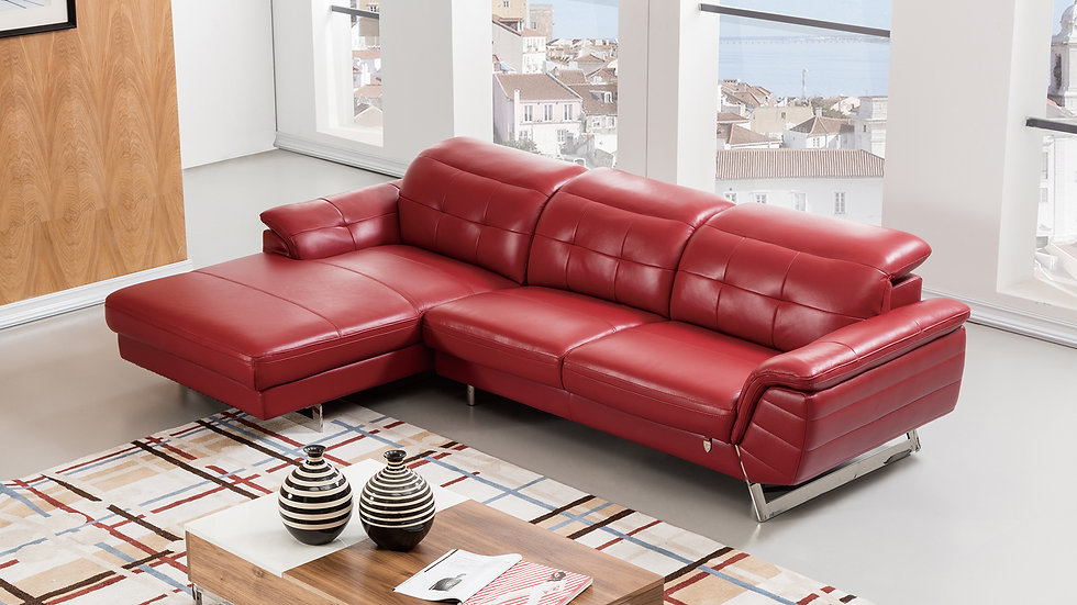 Veleta III Leather Sectional