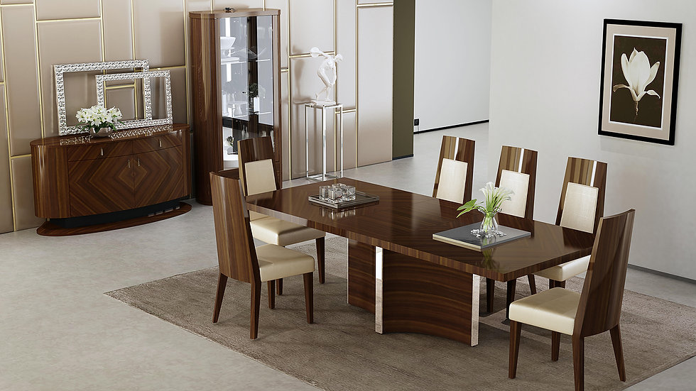Allannah Brown  7pc Dining Set