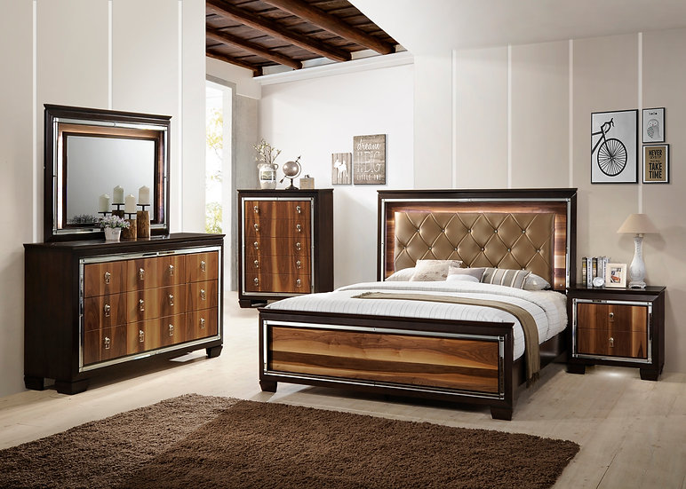 Redwood Grain King Bedroom Set