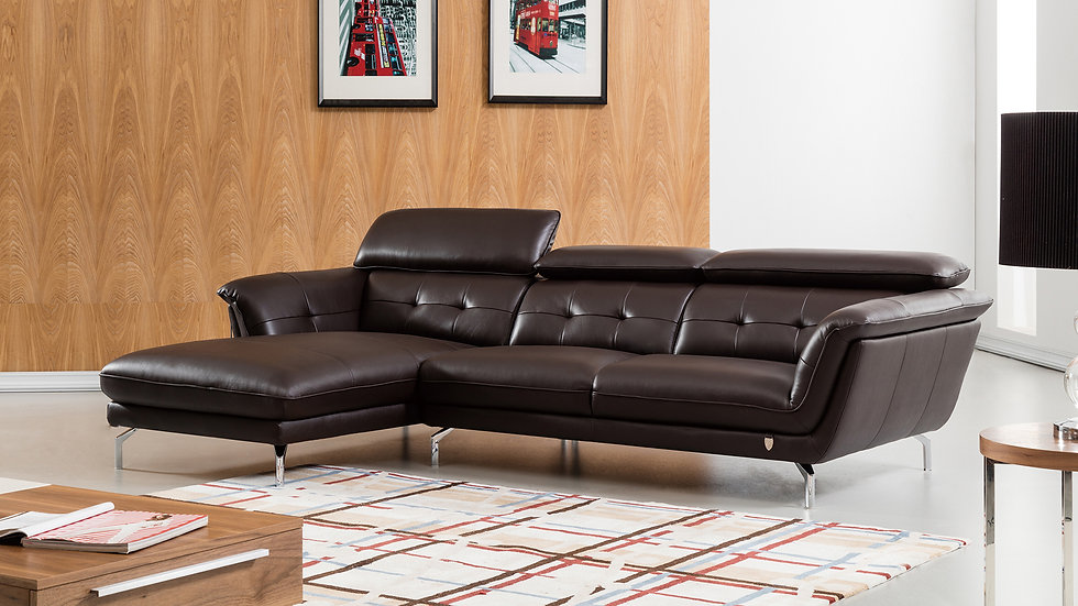 Veleta Leather Sectional