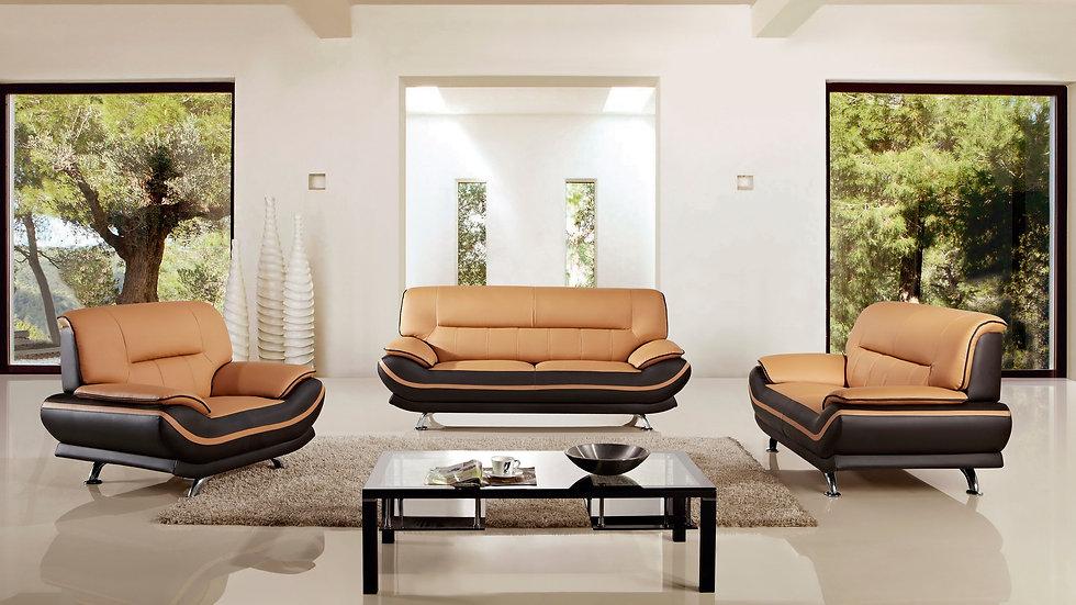 Brooke Orange Sofa Set