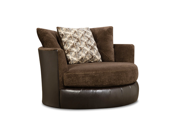 Sagia Mocha Swivel Chair