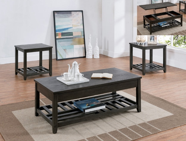 Set of Three Table Rustic