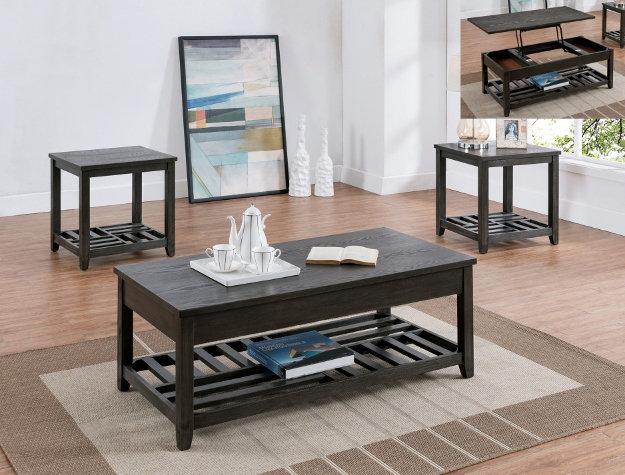 Set of Three Table Rustic