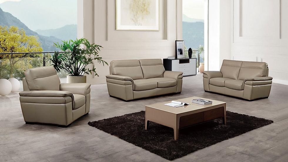 Gifford Genuine Italian Leather Sofa Set