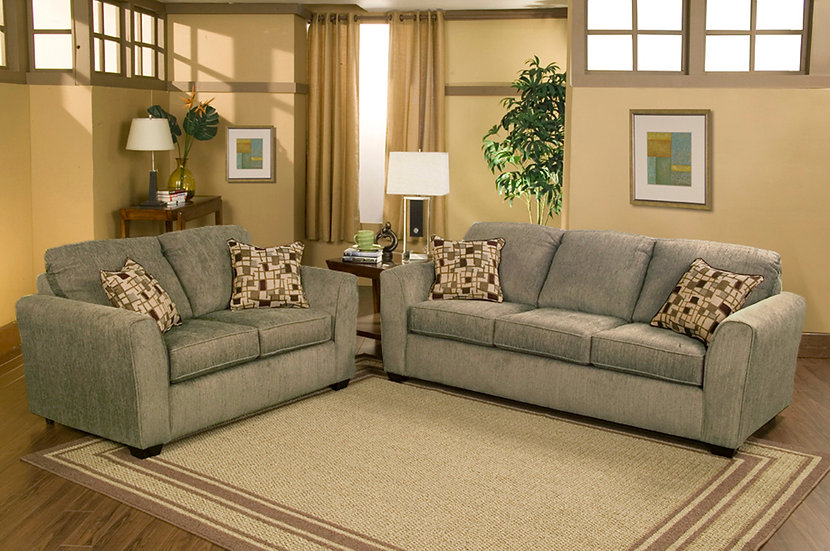 Ariana II Fabric Sofa Set