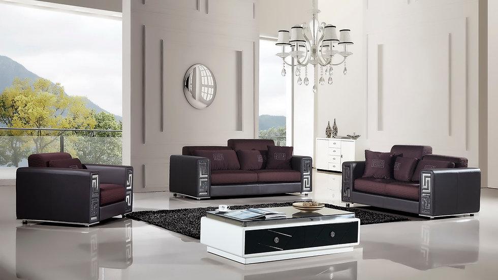 Arlington Maroon Sofa Set