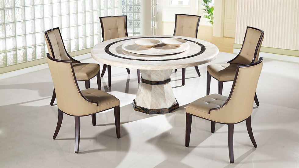 Ventia Ruede 7pc Marble Dining Set