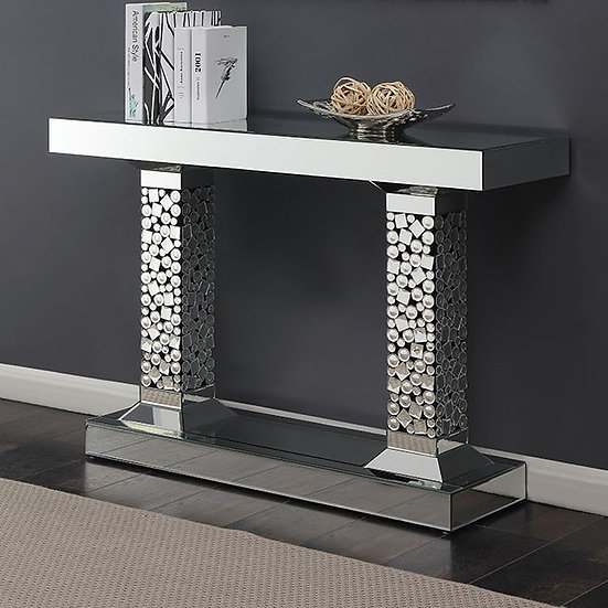 Two Pillar Console Table Glass