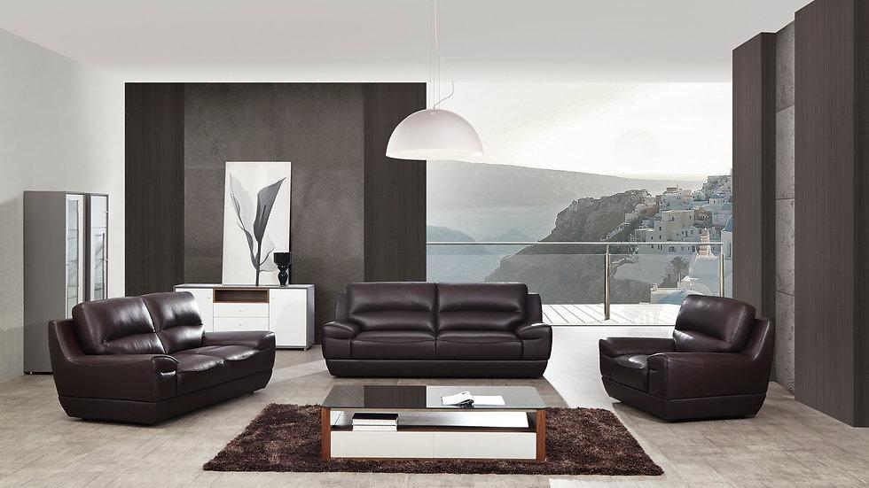 Bosewell Genuine Italian Leather Sofa Set