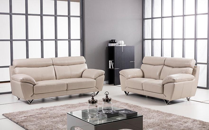 Highgate Genuine Italian Leather Sofa Set