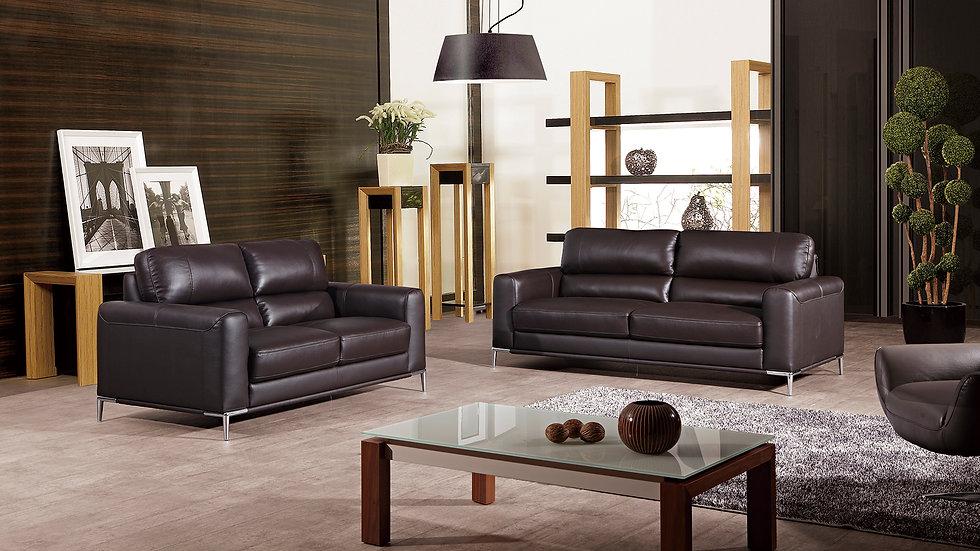 Hartfield Genuine Italian Leather Sofa Set