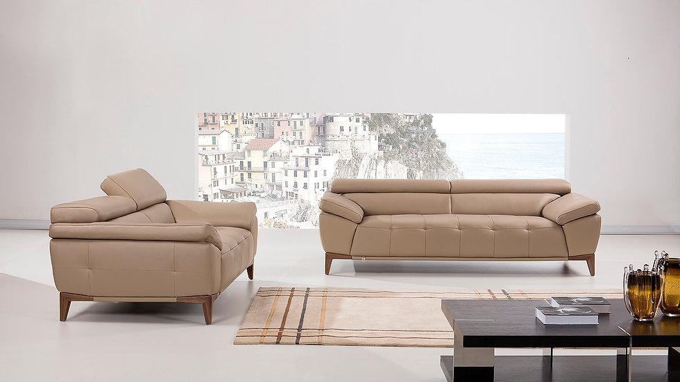 Ampton II  Genuine Italian Leather Sofa Set