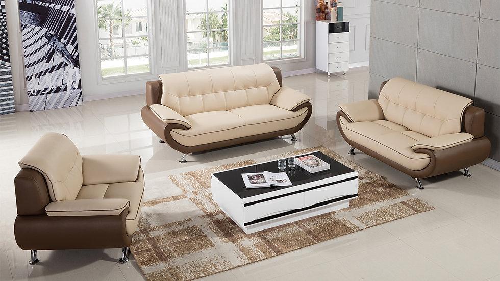 King Lake II Genuine Leather Sofa Set