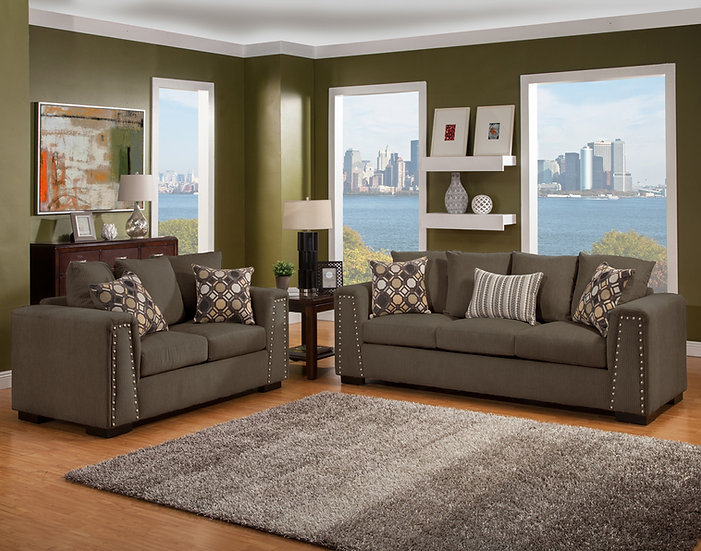 BLVD I Fabric Sofa Set