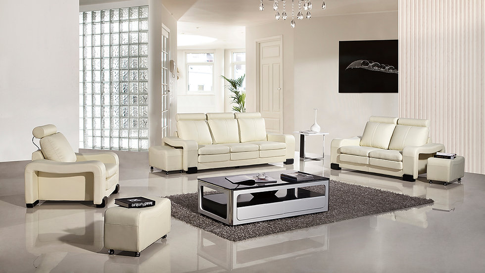 Brooksville White Sofa Set