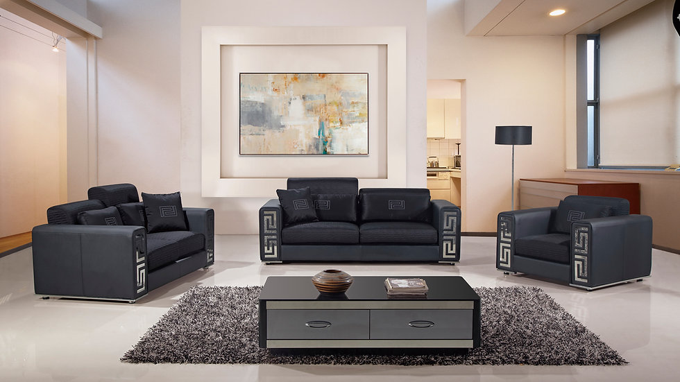 Arlington Black Sofa Set