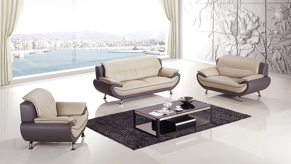 Keyse Mocha/Tan Sofa Set