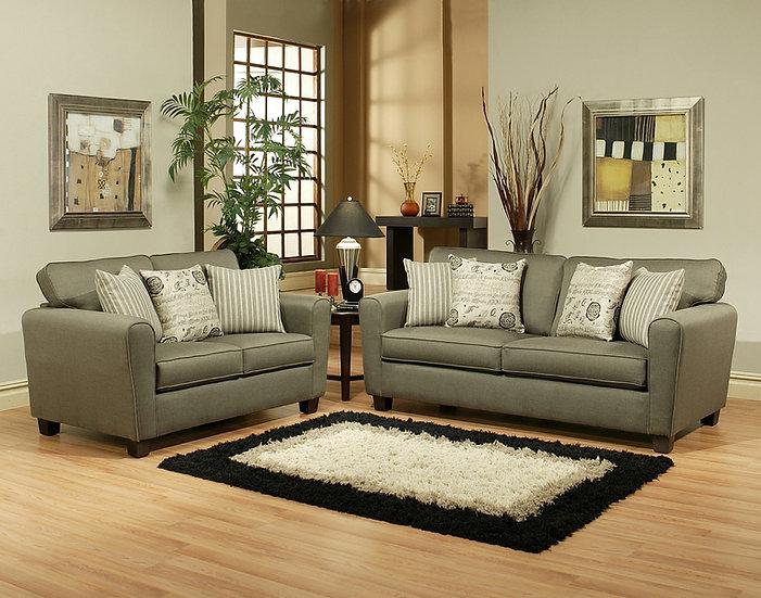 Gina Grey Fabric Sofa Set