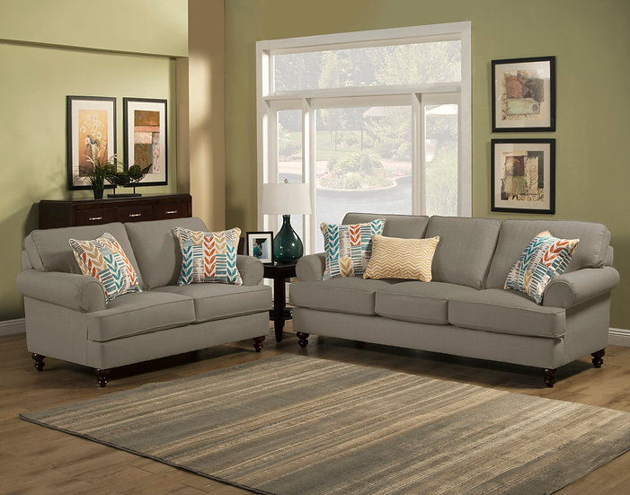 Monet VI Fabric Sofa Set