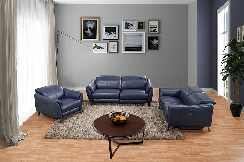 3pc Power Leather Recliner
