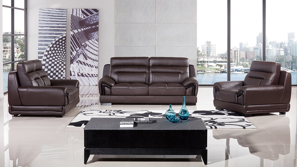 Peter Hills Genuine Leather Sofa Set