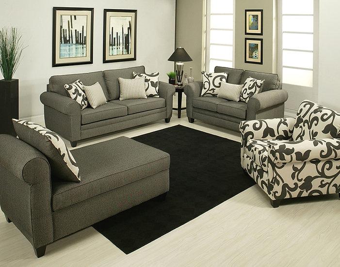 Mystic River Fabric Sofa Set