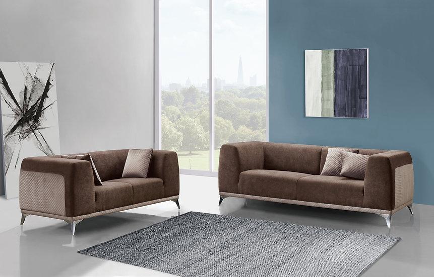 Mocha 2pc Sofa Set
