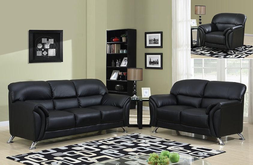 Orlando Black Sofa Set