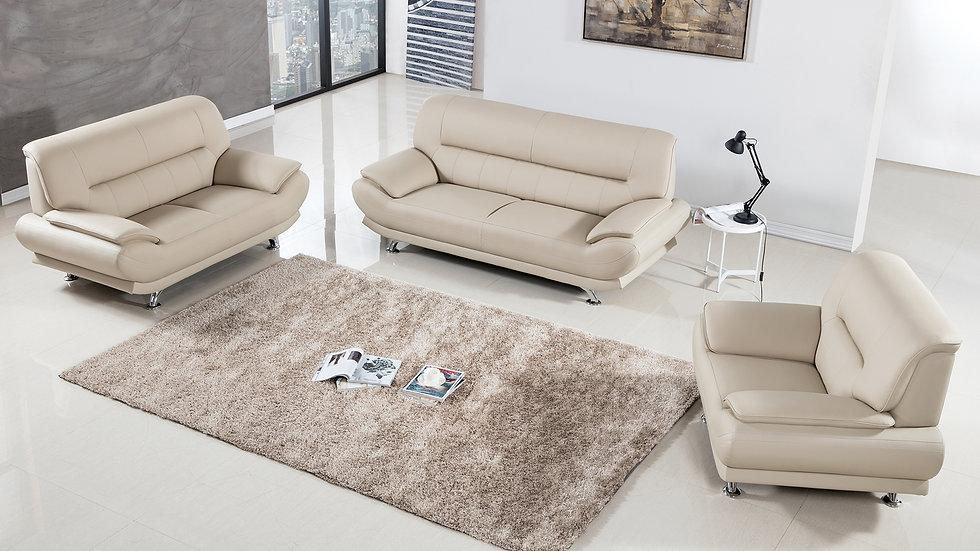 Brooke Cream Sofa Set