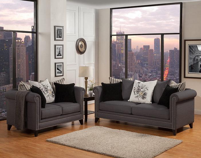 Monet I Fabric Sofa Set