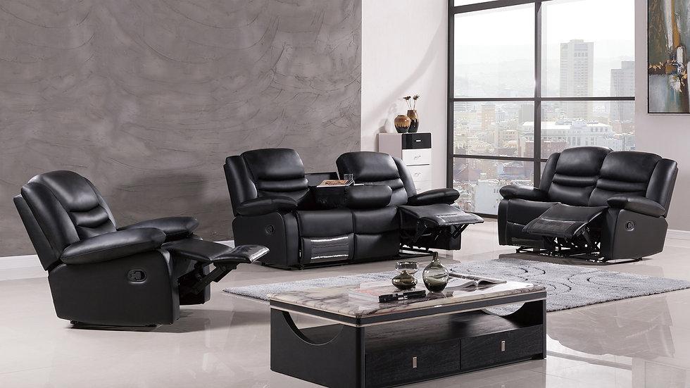 Middleton Black Reclining Sofa Set