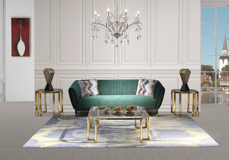 Emerald Champagne Sofa Set Collection