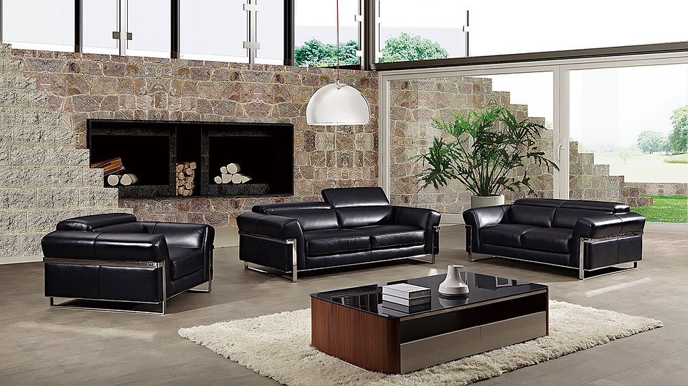 Becher Genuine Leather Sofa Set
