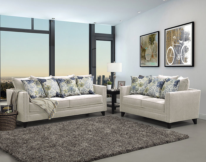 Uptown I Fabric Sofa Set