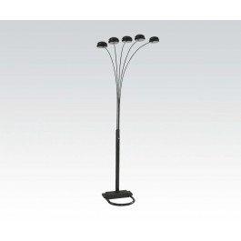 5-Cap Style Black Floor Lamp
