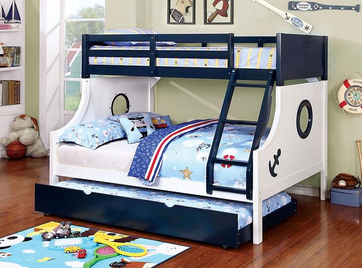 Nautical Blue Bunk Bed Set