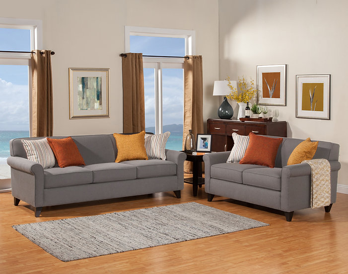 Jaque II Fabric Sofa Set