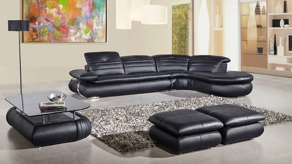 Second Ave Leather Sectional