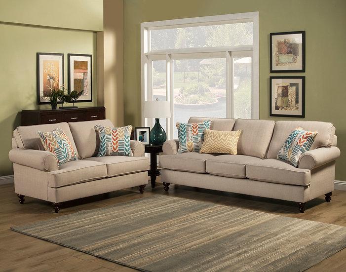 Samantha II Fabric Sofa Set