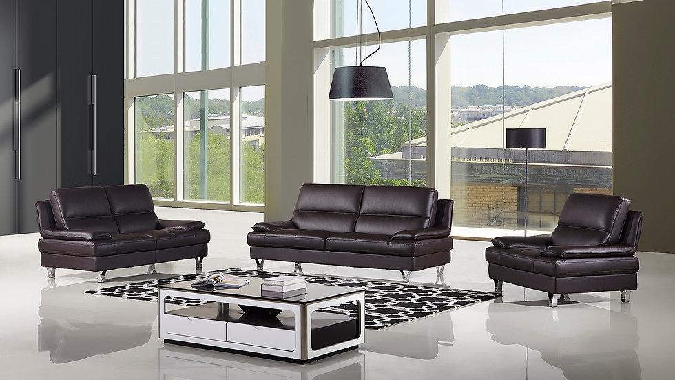 Cambridge Genuine Leather Sofa Set