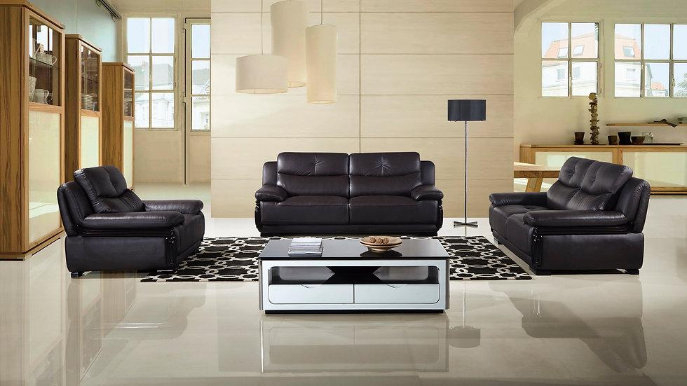 Wright Genuine Leather Sofa Set