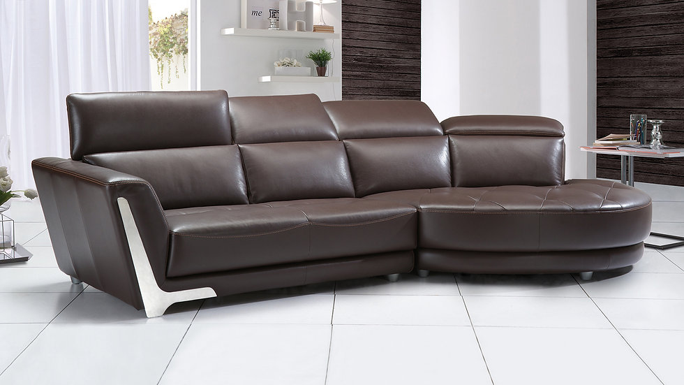 Johansson  Leather Sectional
